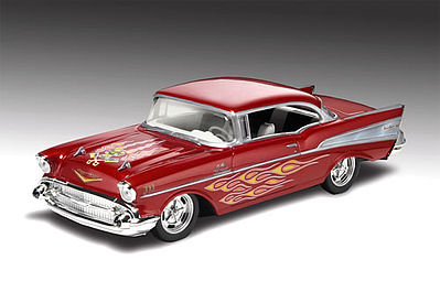 1957 Chevy Bel Air -- Snap Tite Plastic Model Vehicle Kit -- 1/25 Scale -- #851931