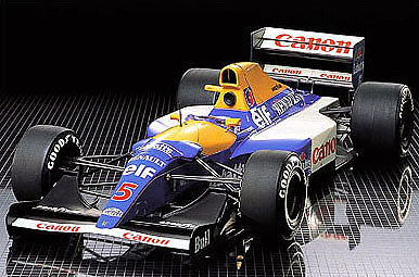 Williams FW14B Renault -- Plastic Model Formula 1 Car -- 1/12 Scale -- #12029