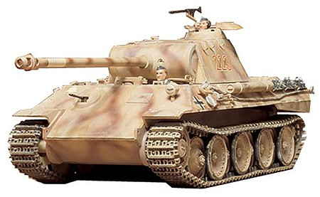 German Panther Medium Tank -- Plastic Model Military Vehicle Kit -- 1/35 Scale -- #35065